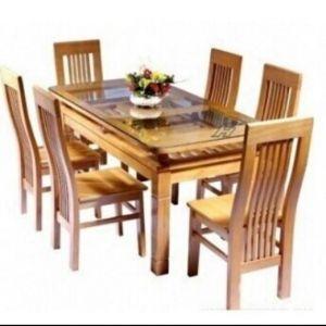 Bộ bàn ăn gỗ sồi Đức 6 ghế 80cm x 1m6
