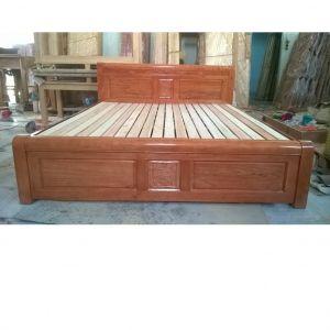 Giường ngủ gỗ xoan đào bắc 1m6 x 2m MS B2