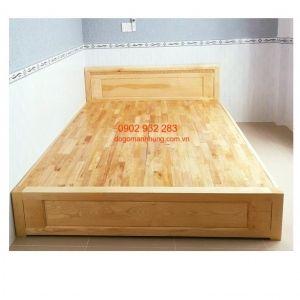 Giường ngủ gỗ sồi 1m6 x 2mkiểu hộp cao 30cm