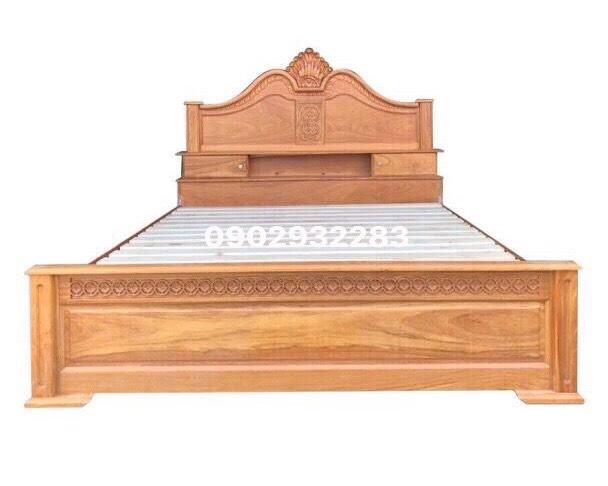 Giường ngủ gỗ gõ đỏ mẫu nữ hoàng 1m6 x 2m