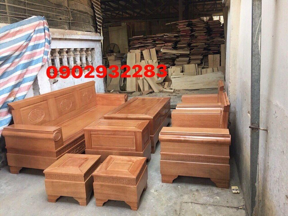 Bộ salon gỗ sồi mẫu tời pháo B 13.9