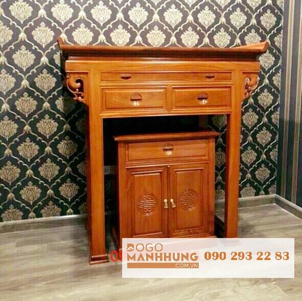 Bộ bàn thờ mẹ gỗ gõ đỏ mẫu hiện đại 1m27