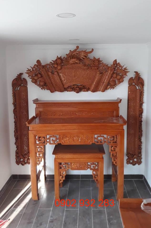 Bộ bàn thờ gỗ gõ đỏ MH 36