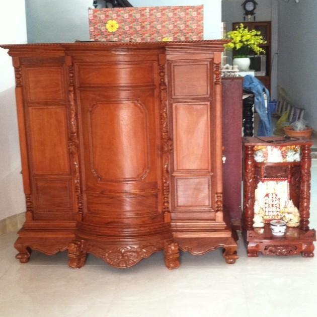 Tủ thờ gỗ căm xe 1m54 x 1m54