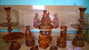 Bộ lư thờ gỗ hương