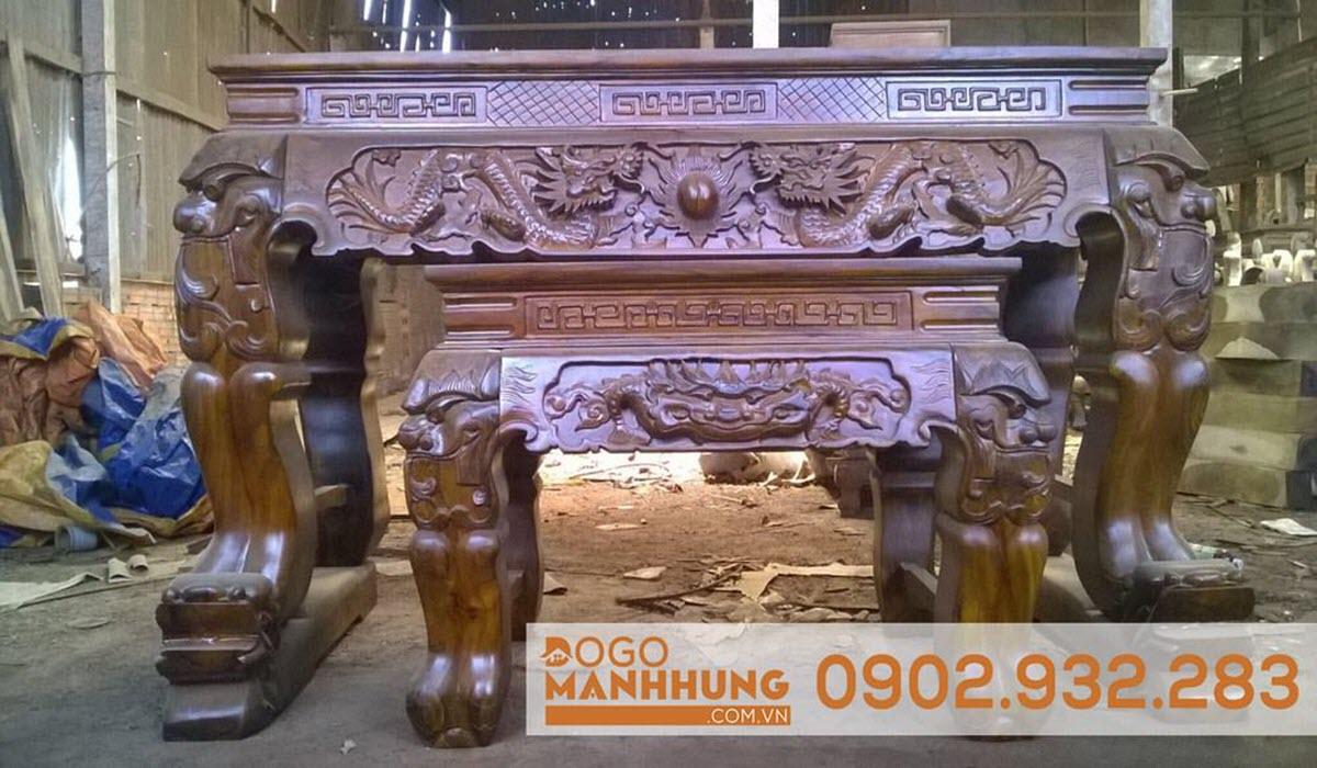 Bộ sập thờ gỗ muồng 1m97 chân 20