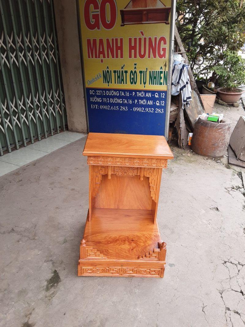 Bàn thờ ông địa gỗ gõ đỏ ,mẫu hiện đại cho nhà phố nhà chung cư cao 68cm