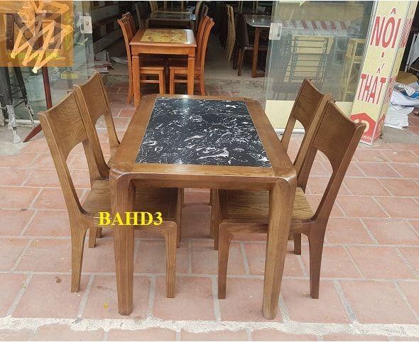 Bộ bàn ăn mặt đá 4 ghế bàn 1m20 X 70