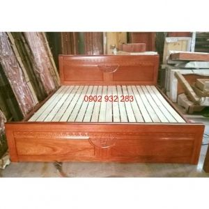 Giường ngủ gỗ xoan đào 1m60x2m XĐ 02