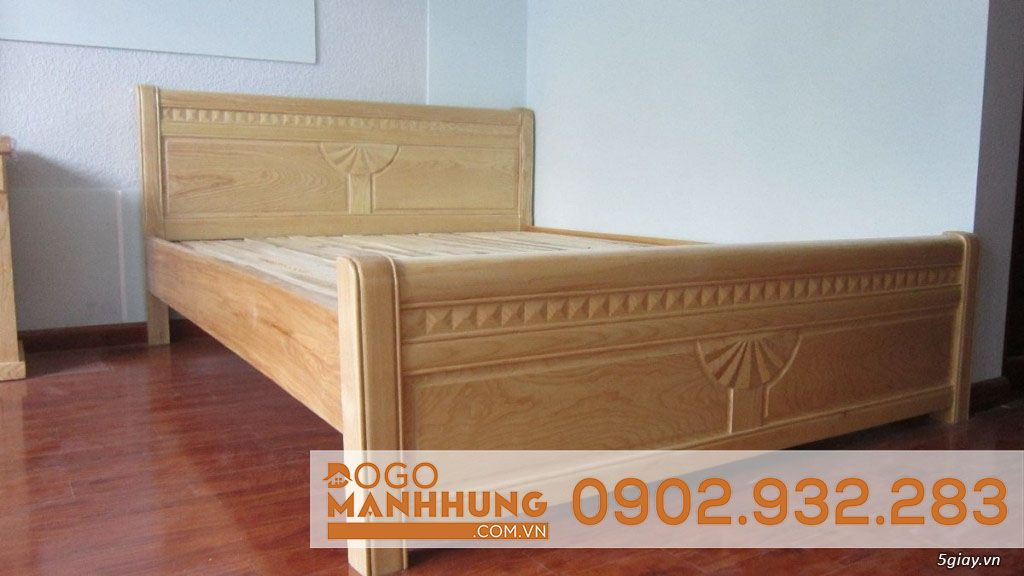 Giường ngủ gỗ sồi nga 1M6 X2M