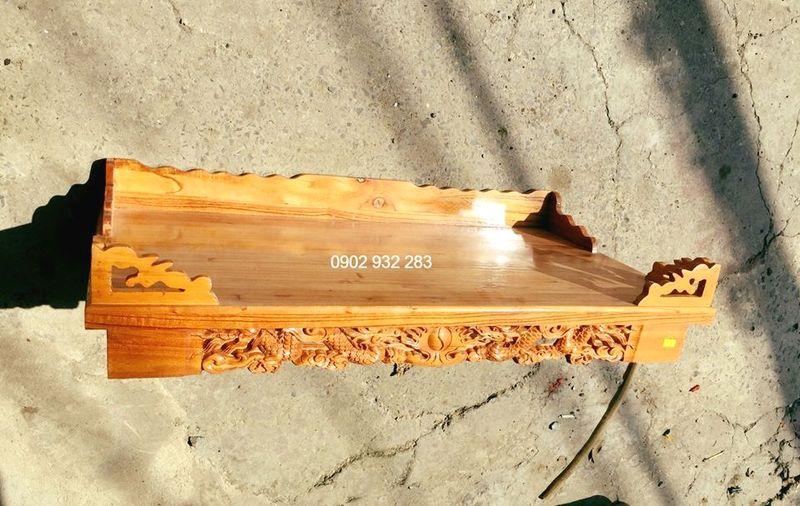 Bàn thờ treo tường gỗ xoan ta 88 x 48