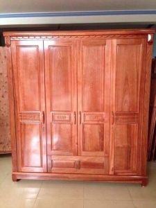 Tủ quần áo gỗ xoan đào 4 cánh MH4