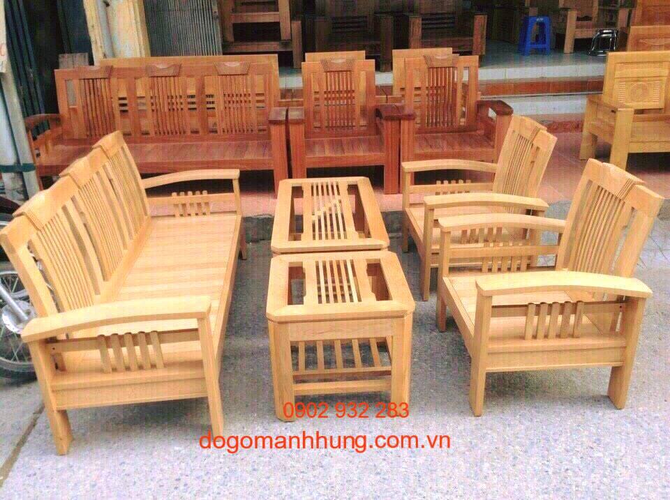Bộ salon gỗ sồi đức mẫu tay cong MS 9.5