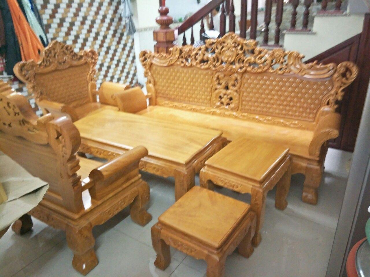 Bộ bàn ghế hoàng gia gỗ gõ đỏ