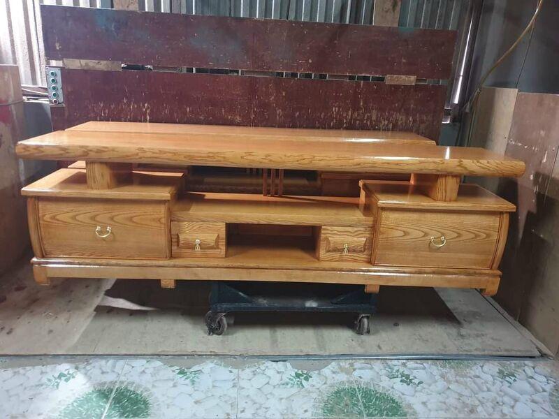 Kệ tivi gỗ sồi nga 1.8m Ms 1