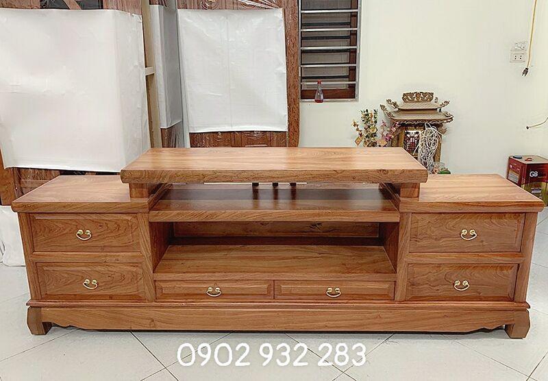 Tủ tivi gỗ hương đá 1,8m