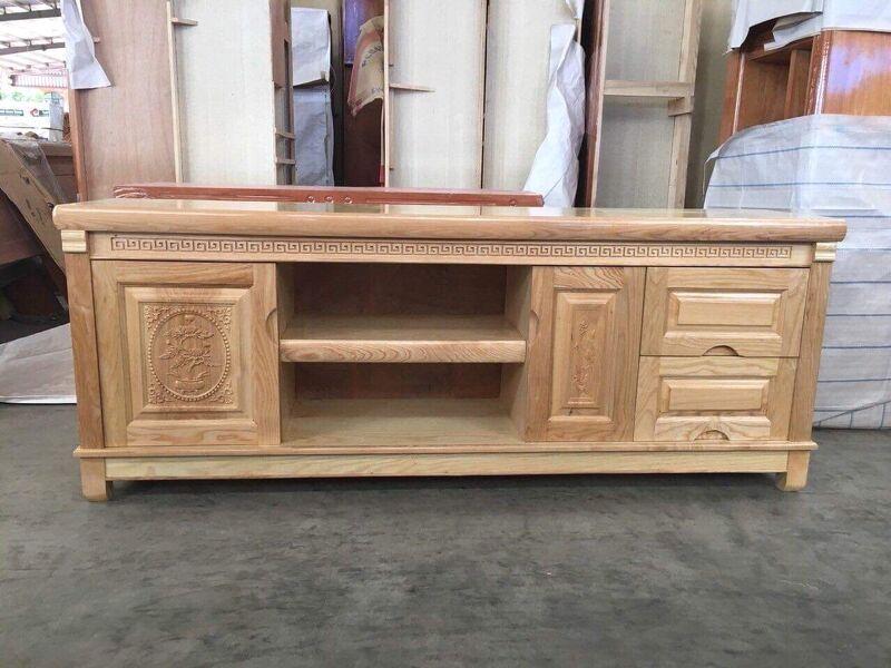Tủ tivi gỗ sồi 1,8m mặt phẳng MS01