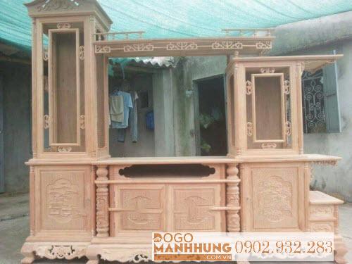Tủ Kệ tivi phòng khách 2 tầng  gỗ tự nhiên