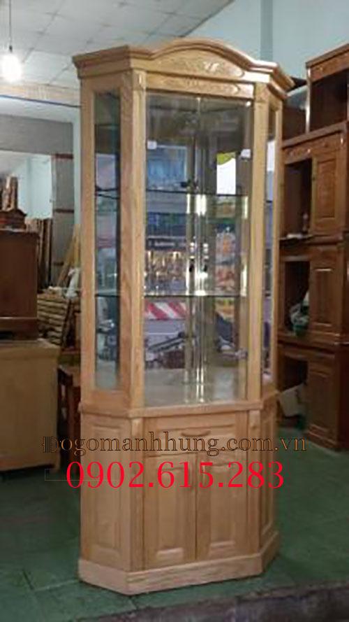 Tủ rượu để góc gỗ sồi 80cm x 1.8m